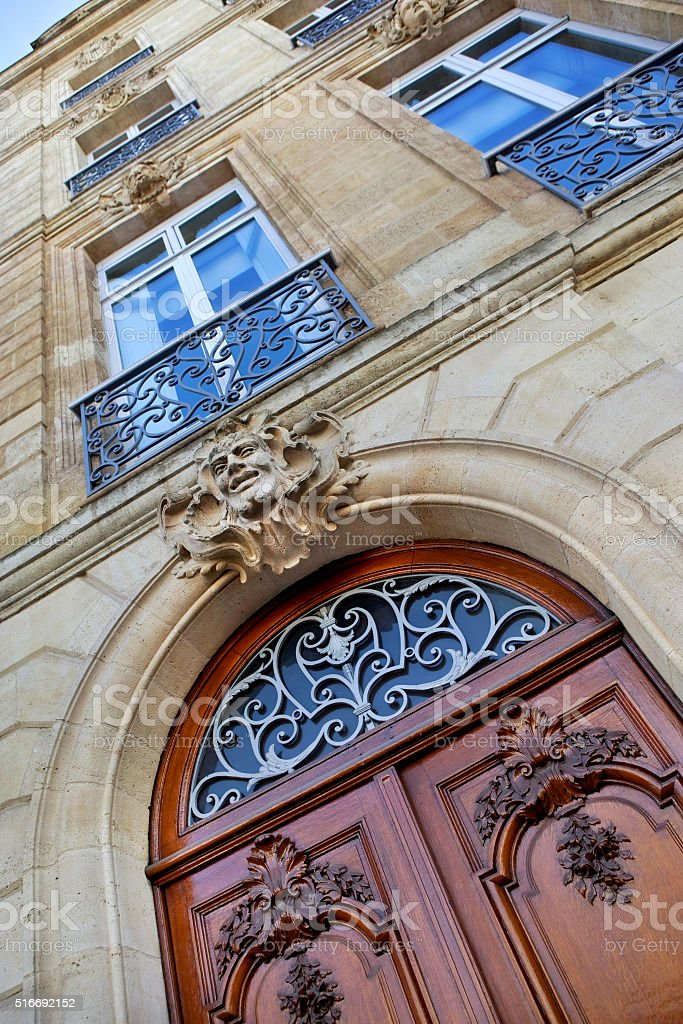 Façade d'un bâtiment français classique - Photo