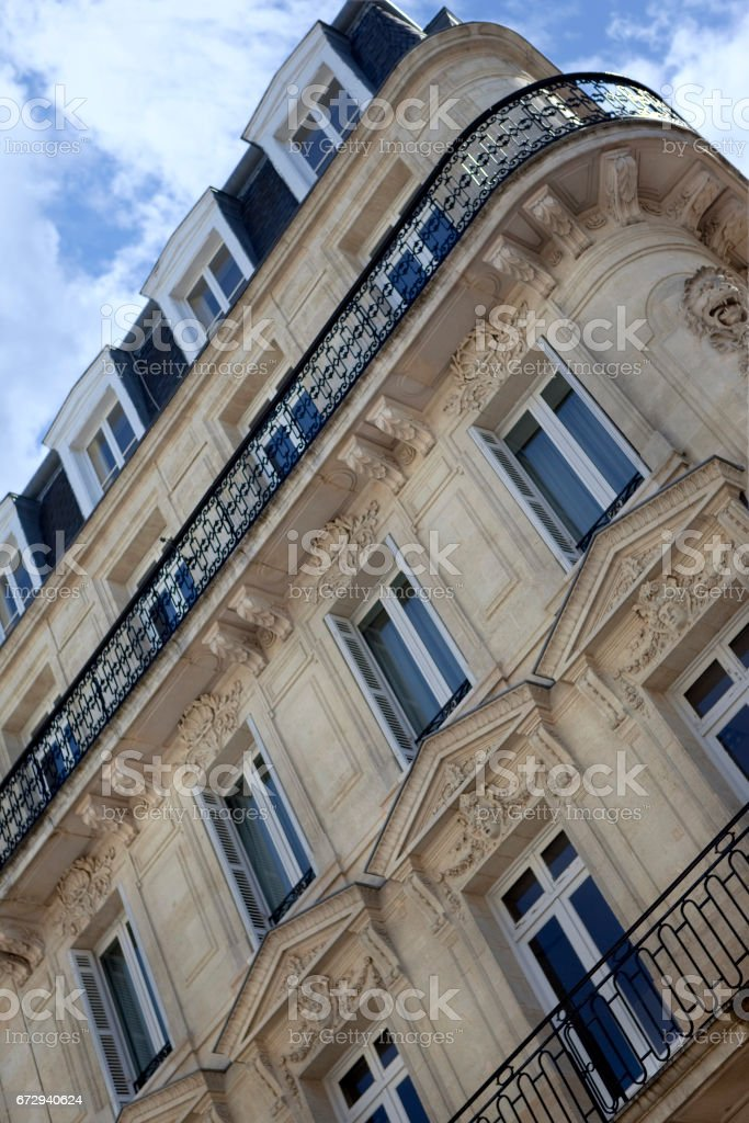 Facade of a classic French building - Photo