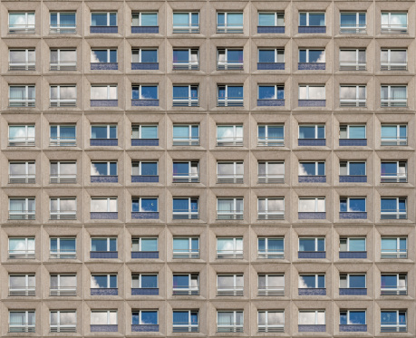 Facade of a high rise building of former GDR