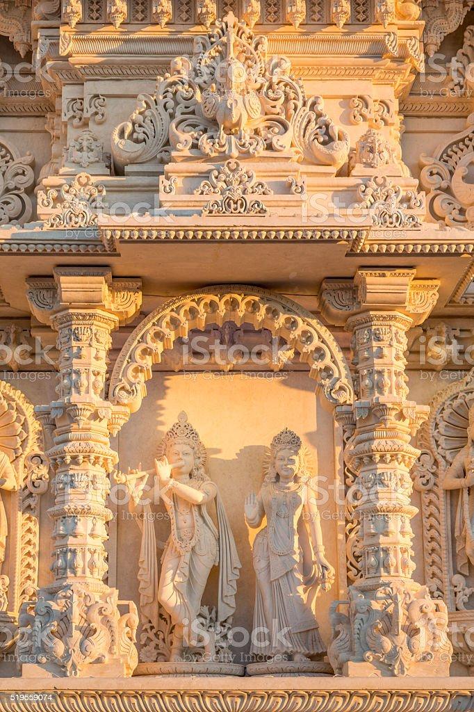 Facade of a hindu temple stock photo