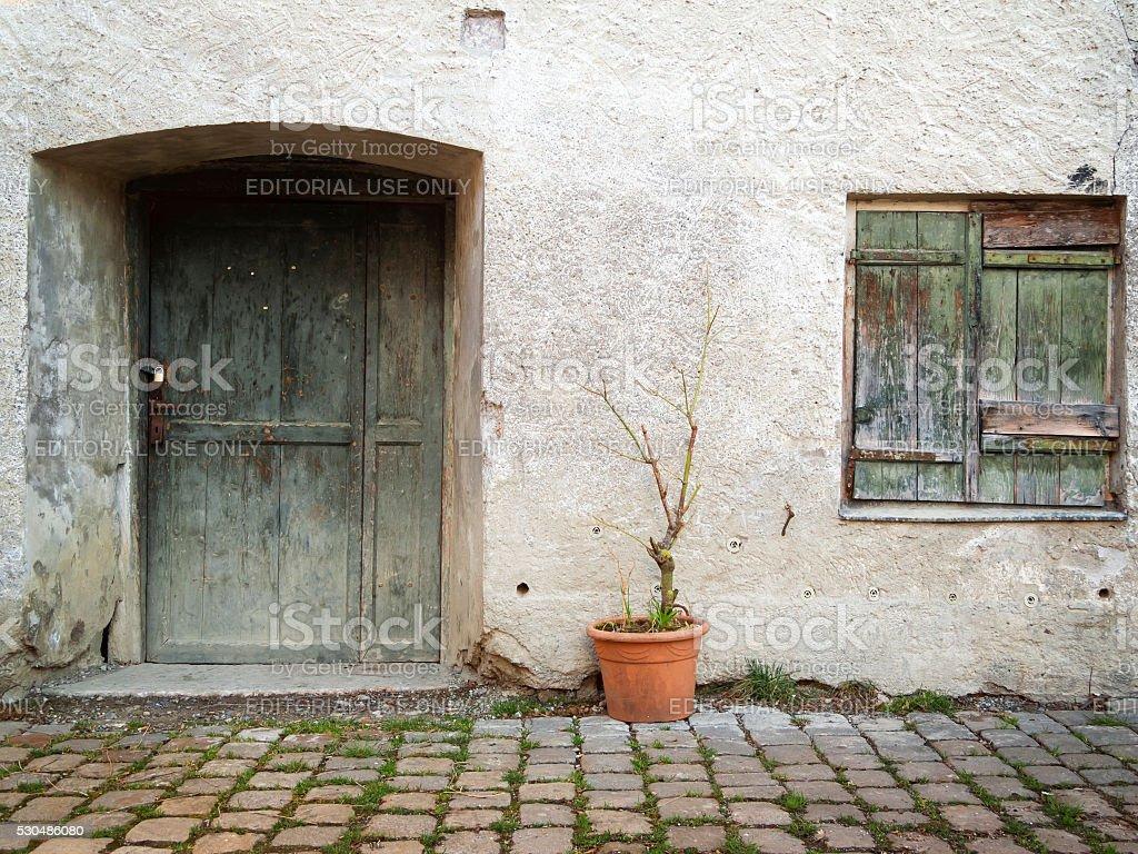 Facade of a House stock photo