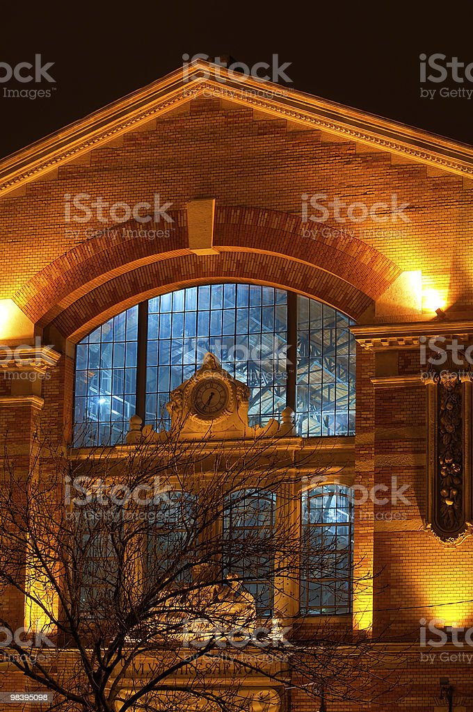 Facade of a market hall royalty-free stock photo