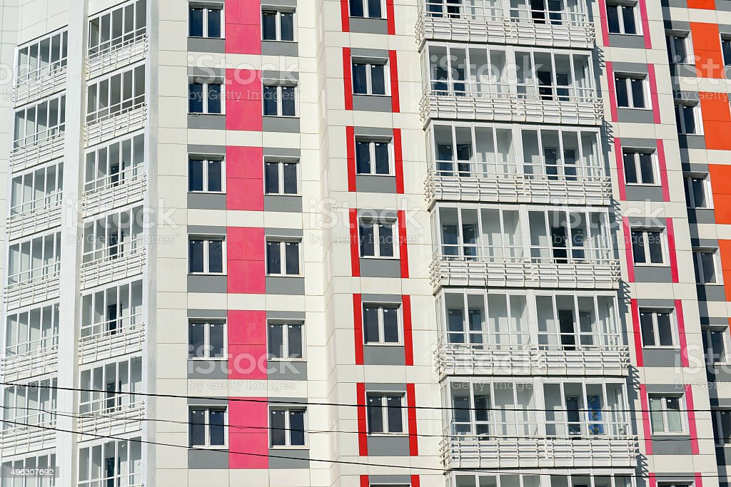 Facade of a modern apartment building royalty free stock photo Of A Modern Apartment Building 496307692  iStock