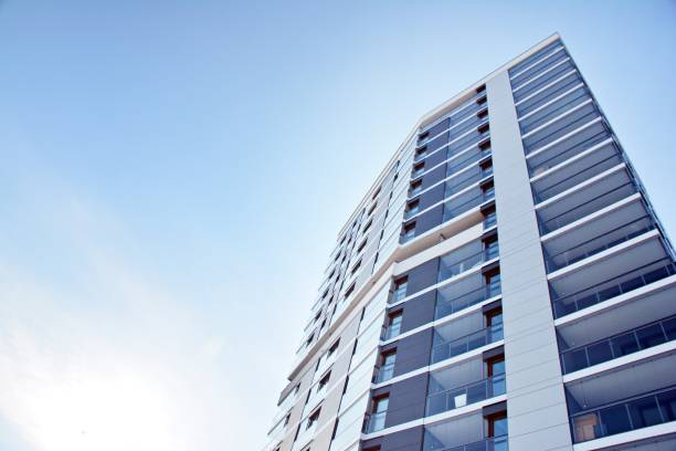 퍼사드 현대식 어파트먼트 미흡함 - 아파트 뉴스 사진 이미지