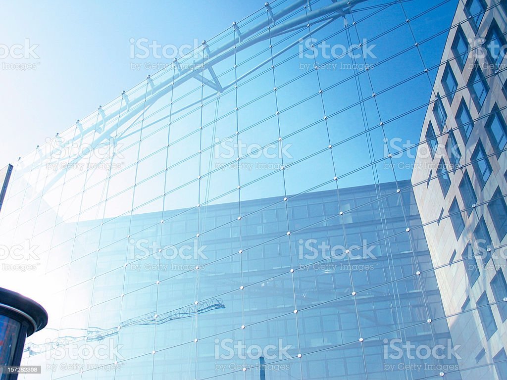 Facade of a modern office building royalty-free stock photo