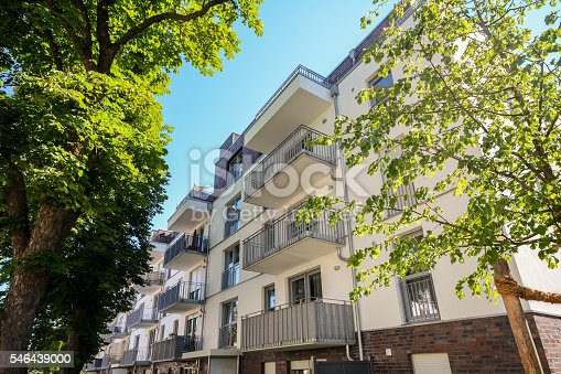 istock Facade of a modern residential building in the city center 546439000