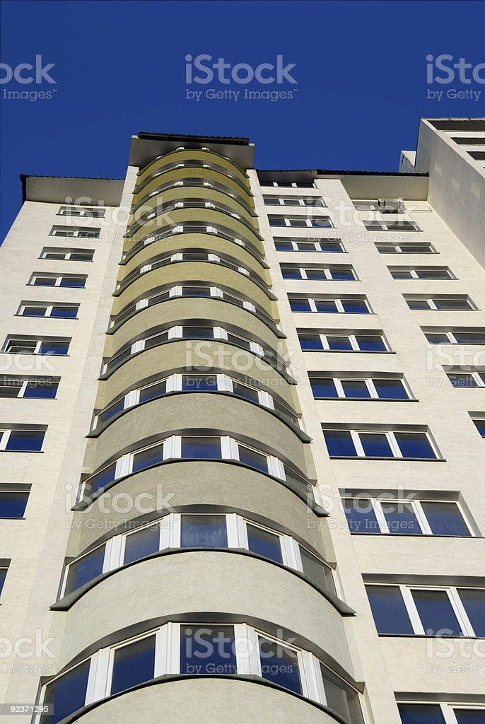 Facade of a new condominium royalty-free stock photo