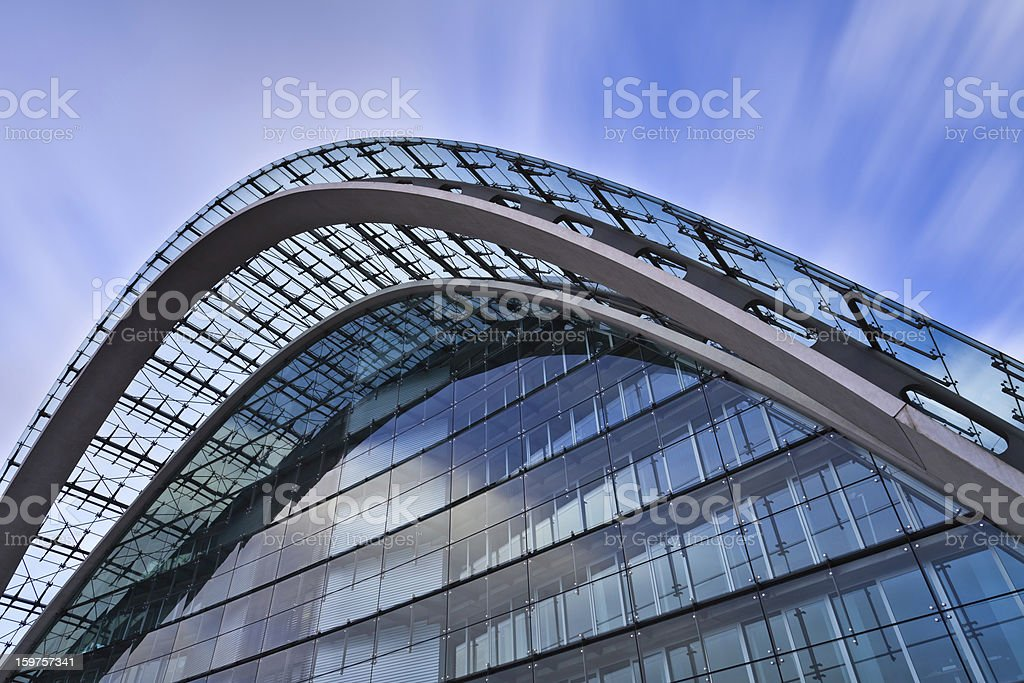 Facade of an office building - modern abstract architecture royalty-free stock photo