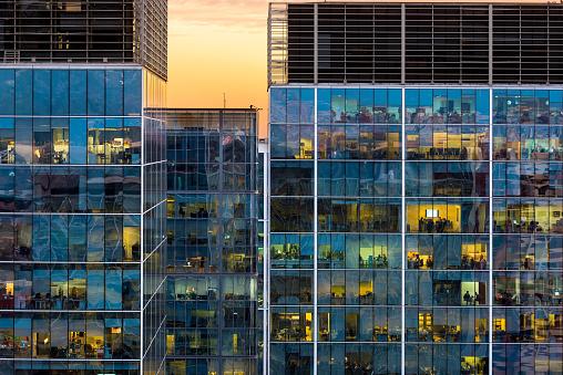 Facade of an office building in Santiago de Chile