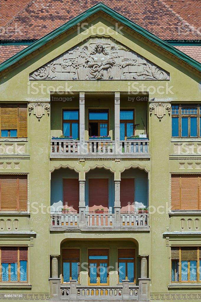 Facade of an Old Building stock photo