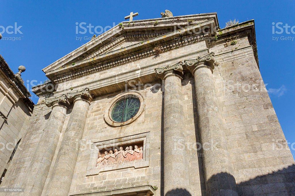 Facade of Animas church in Santiago de Compostela royalty-free stock photo