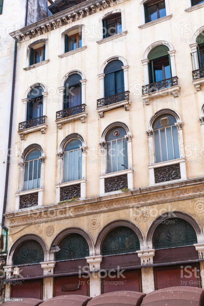 facade of apartment house in Venice city royalty-free stock photo