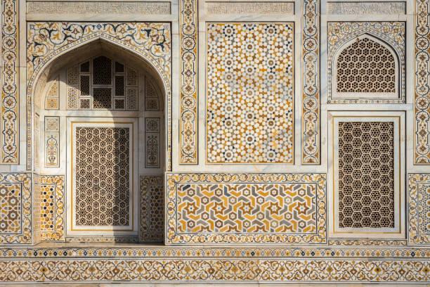 "Facade of ""Baby Taj"" mausoleum in Agra - a draft of the famous Taj Mahal. stock photo"