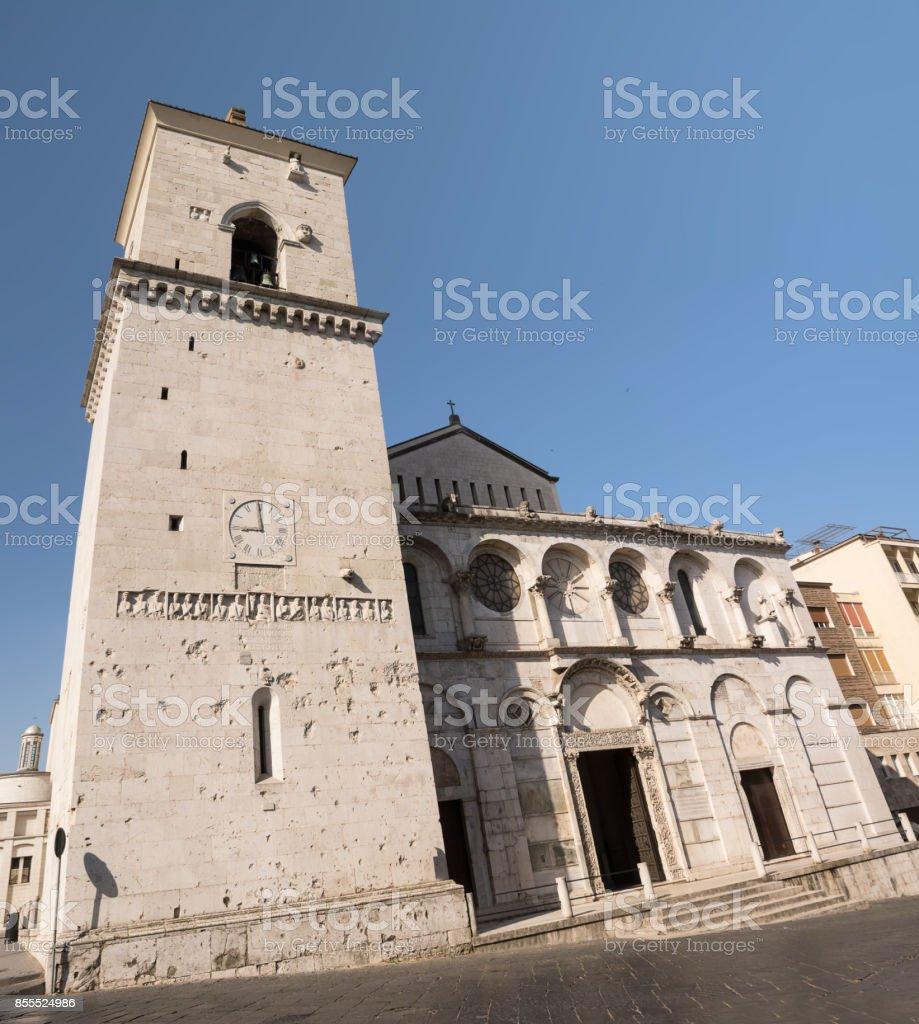 Facade of Benevento Cathedral (Italy) - foto stock