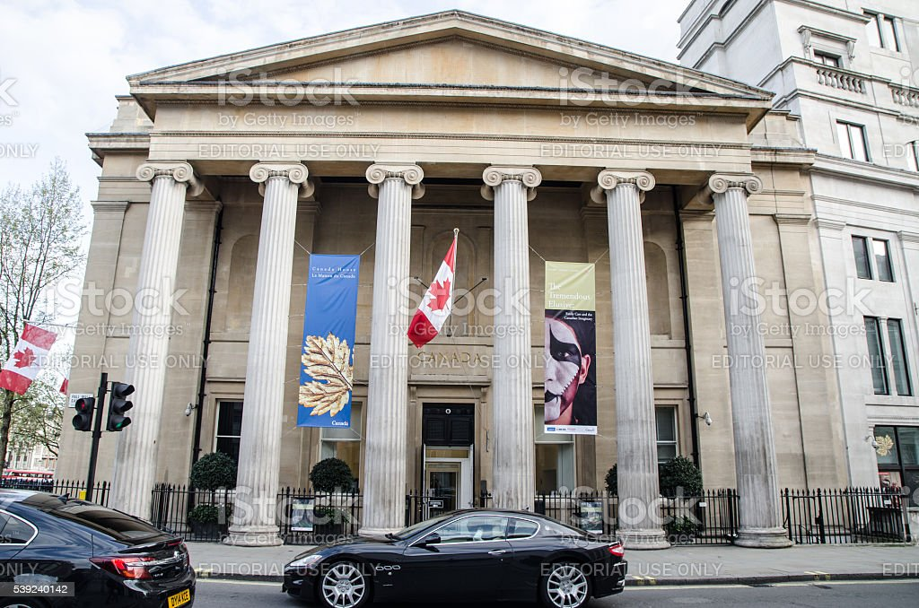 Facade of Canada House in London stock photo