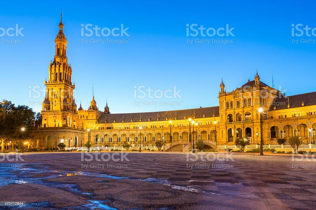 Facade of espana Plaza Seville stock photo