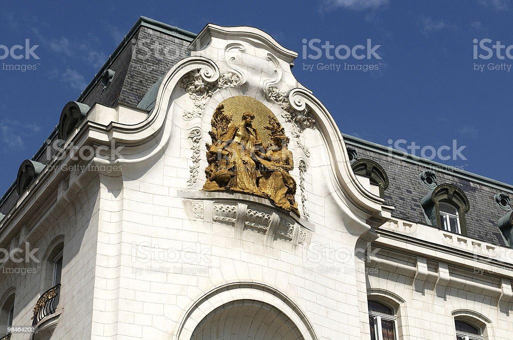Facciata dell'Ambasciata francese foto stock royalty-free
