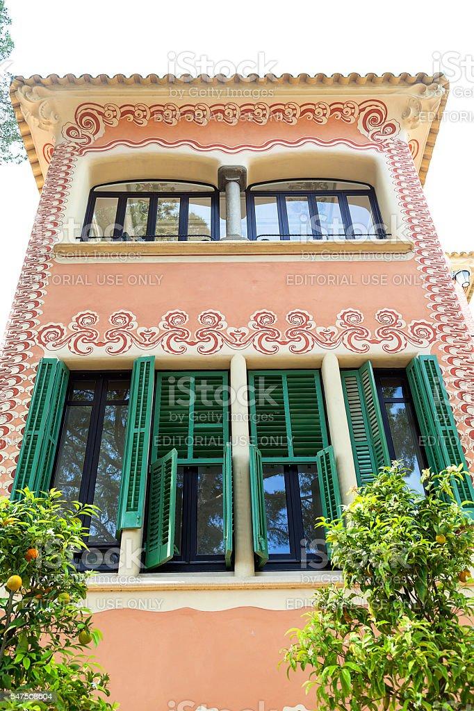 236399e58c Facade Of Gaudi House Museum Barcelona Spain Stock Photo   More ...