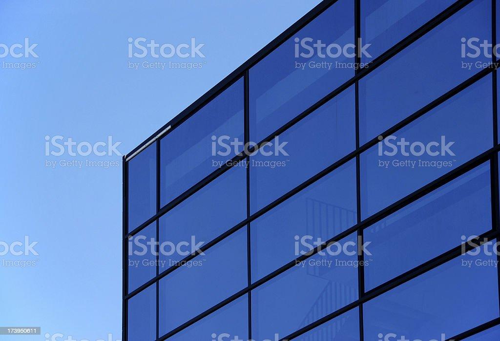 Facade of glass stock photo