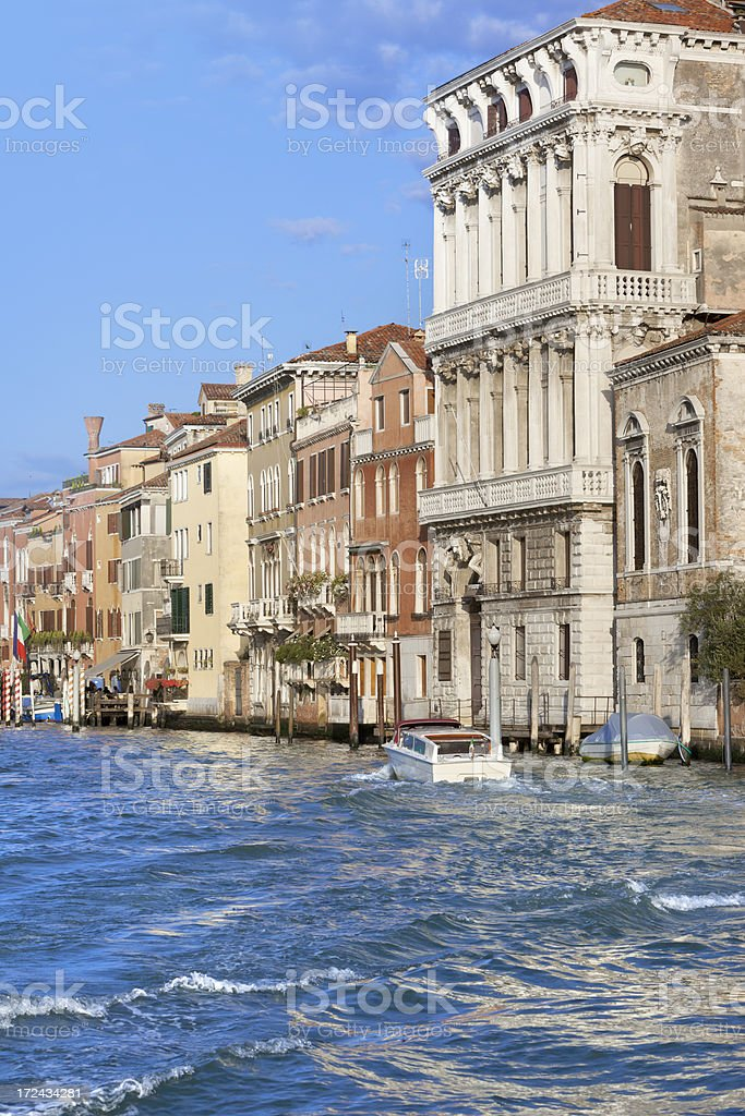 Facade of houses at Grand Canal in Venice Italy royalty-free stock photo