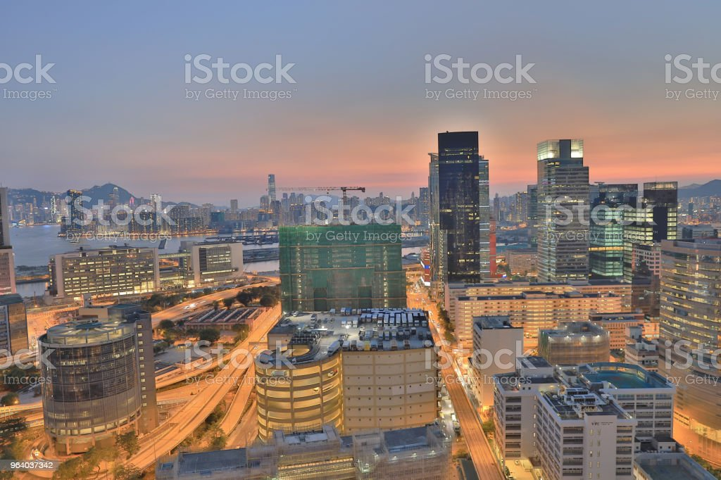 Facade of industrial building in HK city - Royalty-free Apartment Stock Photo