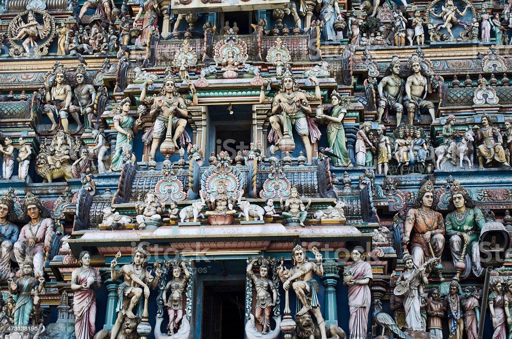 Facade of Kapaleeshwarar temple, Chennai stock photo
