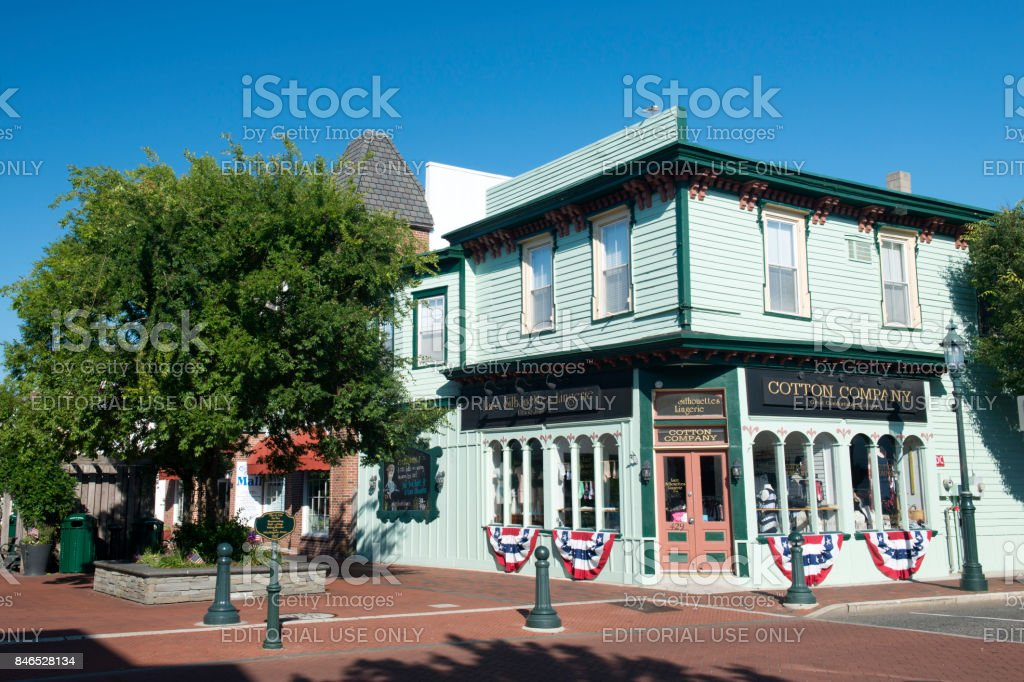 a425e715884 Facade of Lace Silhouettes Lingerie store at Washington Street Mall in Cape  May - Stock image .