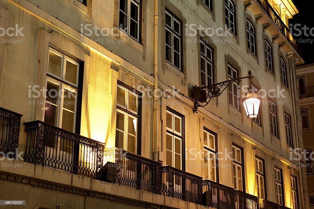 Facade of Lisbon stock photo