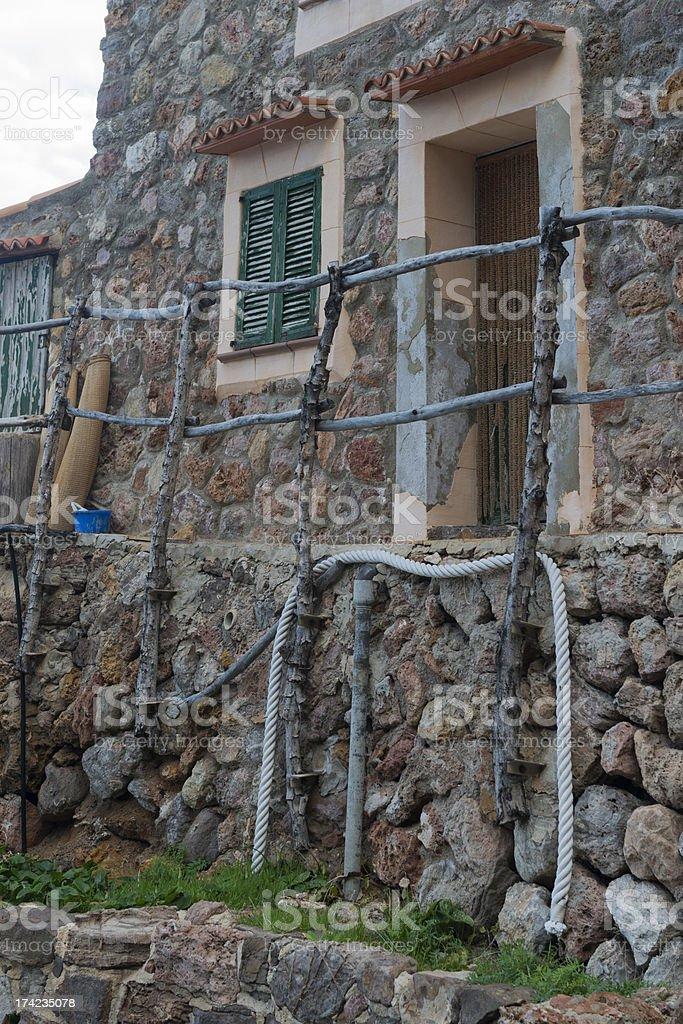 Facade of Majorca house royalty-free stock photo