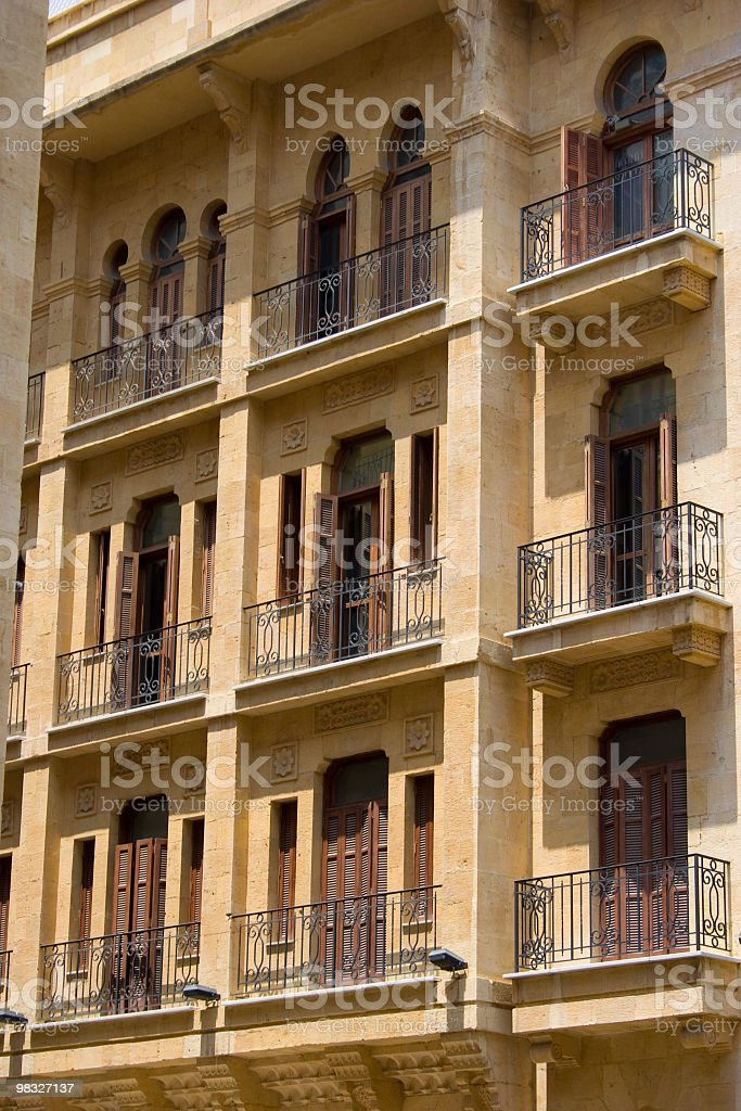 Facade of Mediterranean building royalty-free stock photo