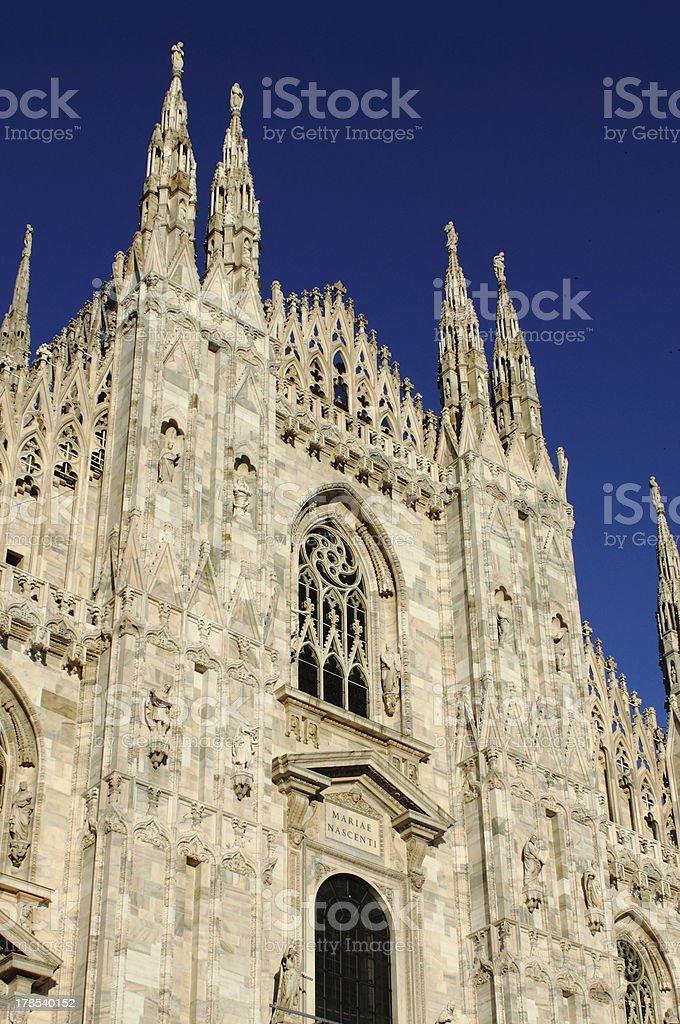 Facade of Milan cathedral royalty-free stock photo