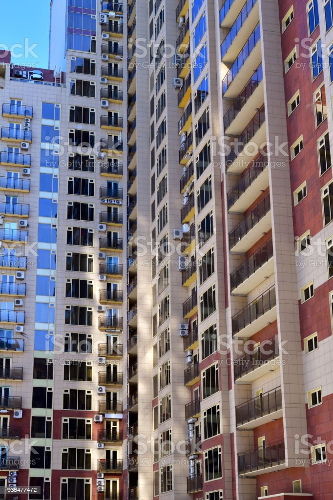 Facade Of Modern Apartment Building In Moscow, Russia Royalty Free Stock  Photo