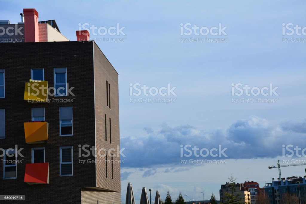Facade of modern buildings. stock photo