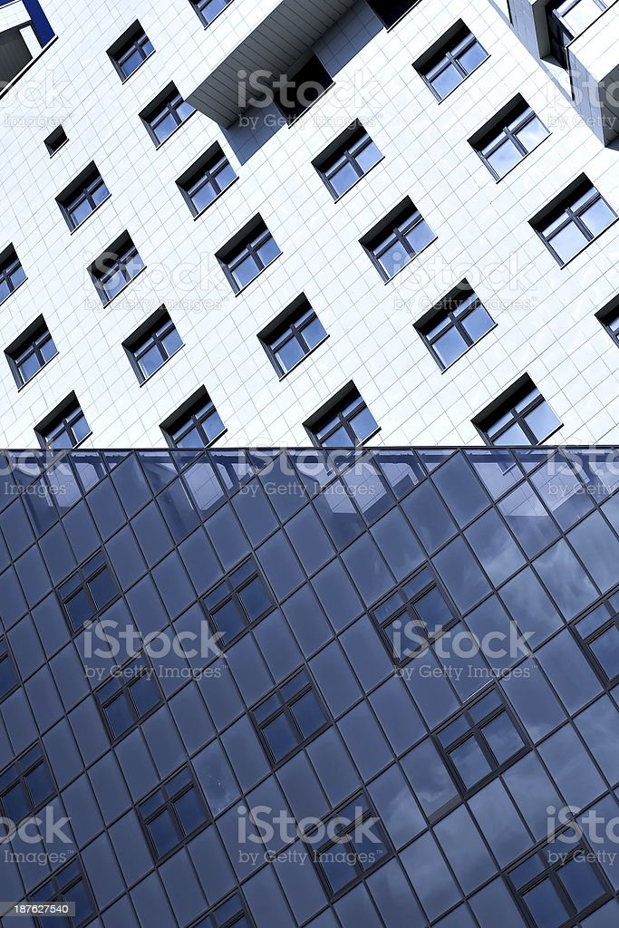 facade of modern bulding house royalty-free stock photo