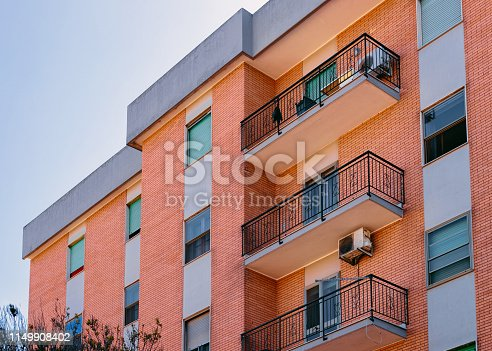 949087660 istock photo Facade of modern residential home house apartment building Cagliari 1149908402