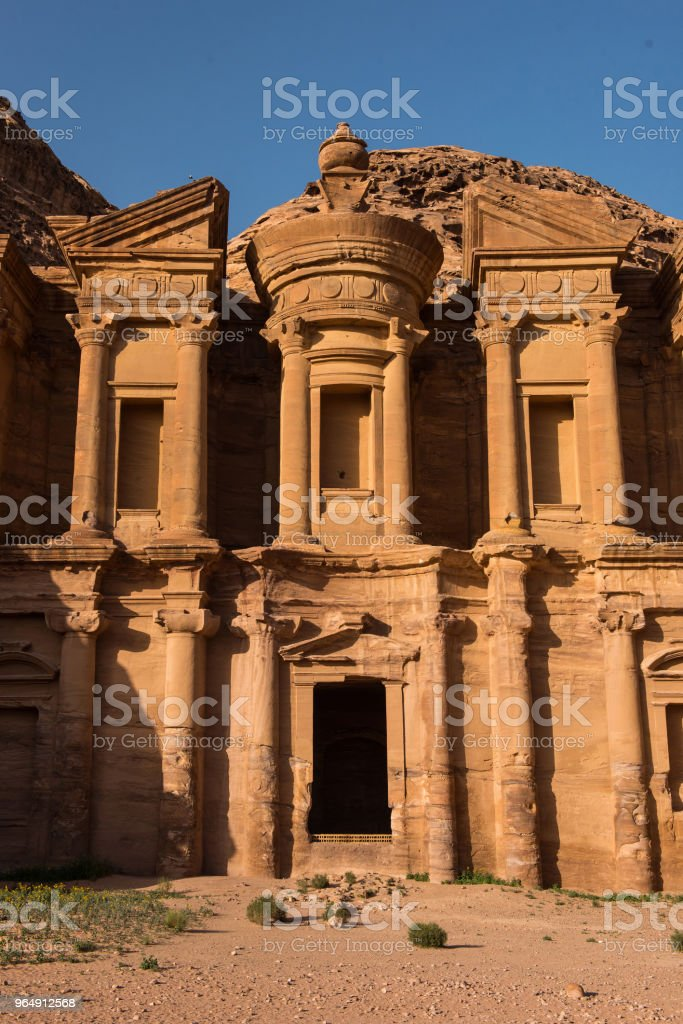 Facade of Monastery. Petra, Jordan royalty-free stock photo