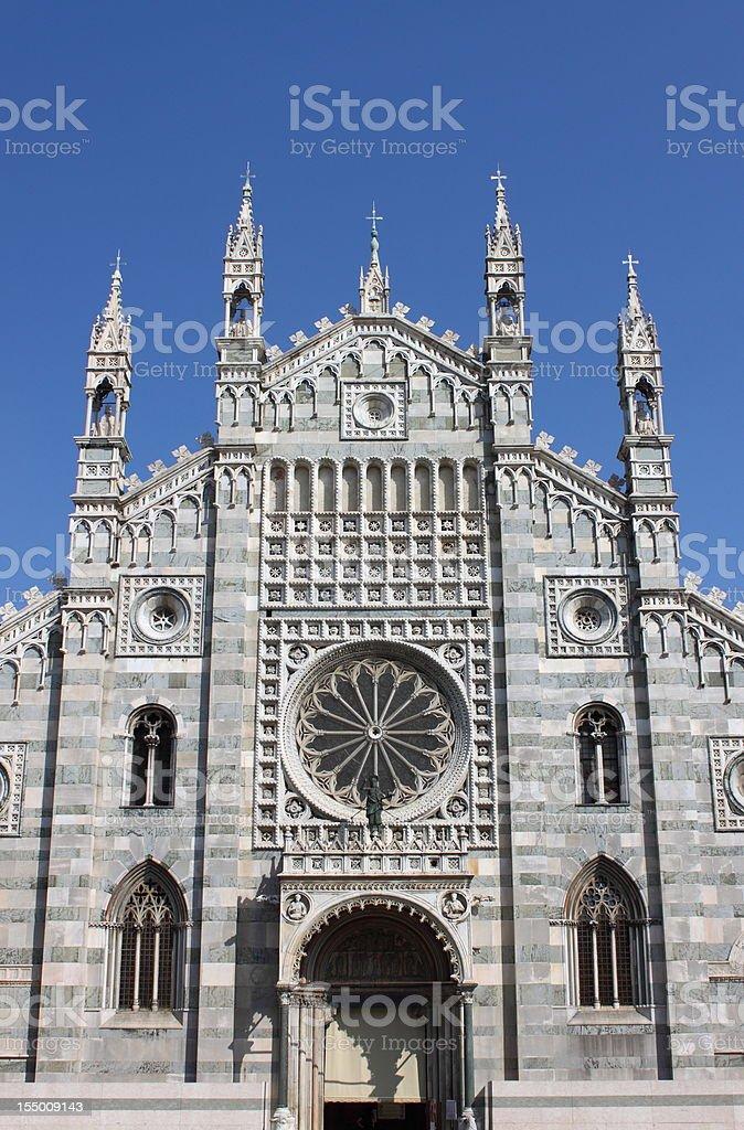 Facade of Monza cathedral, Italy stock photo