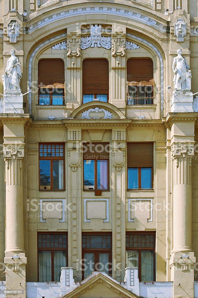 Facade of Old Building stock photo