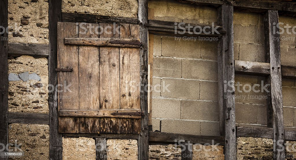 Facade of old house royalty-free stock photo