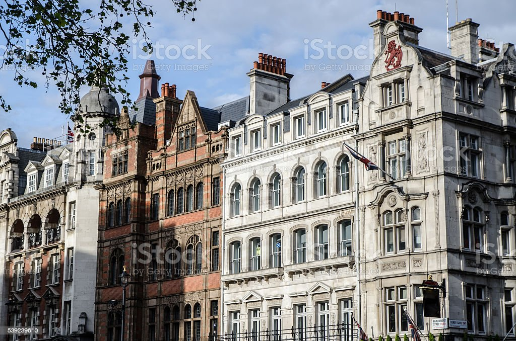 Facade of old residential buildings royalty-free stock photo
