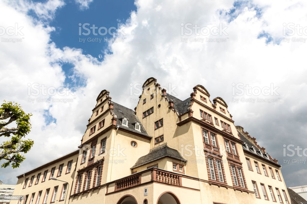 facade of r court building in Frankfurt royalty-free stock photo