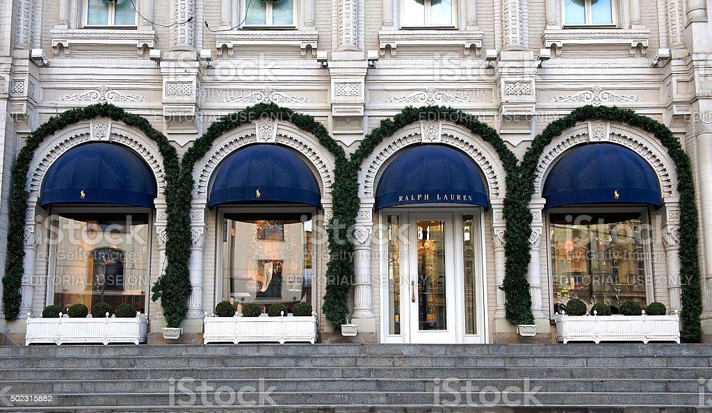 af811a24f92c Фасад Ralph Lauren Флагманский Магазин — стоковые фотографии и ...