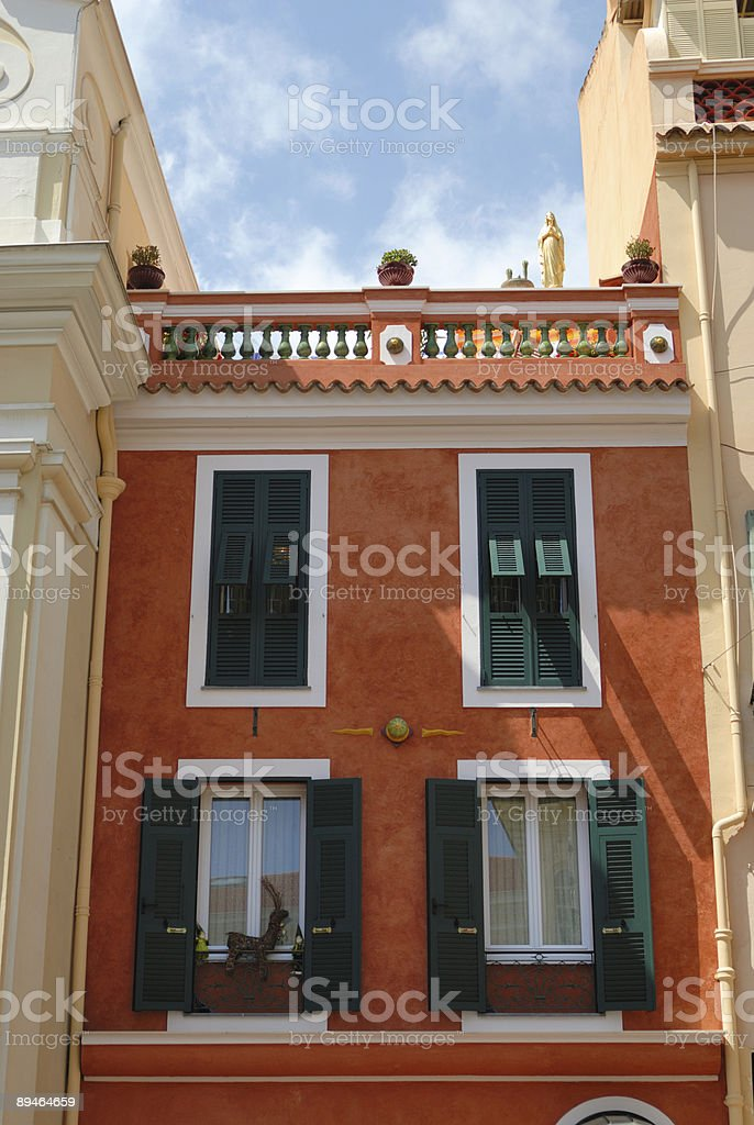 Facade of residential house royalty-free stock photo