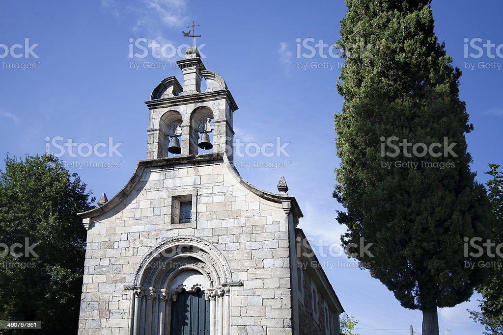 Facade of romanesque church royalty-free stock photo