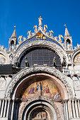 Facade of Saint Mark's Basilica in Venice, Italy
