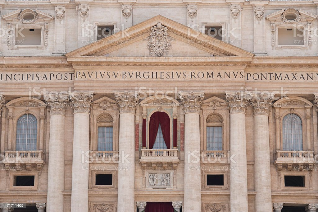 Facade of Saint Peter's Basilica in Rome royalty-free stock photo