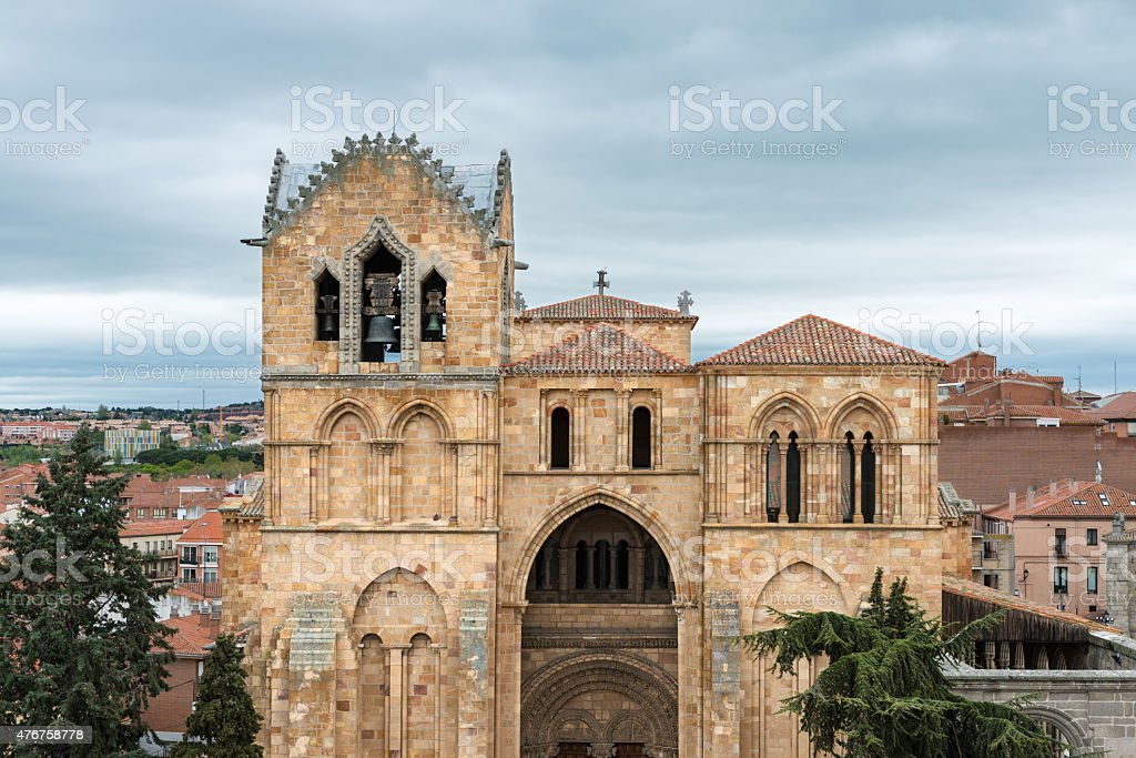 Facade Of The Basilica Of San Vicente In Avila Spain Stock Photo Download Image Now Istock