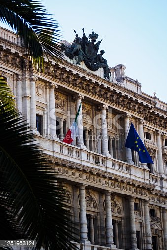 Facade of the Court of Cassation in Rome, Italy