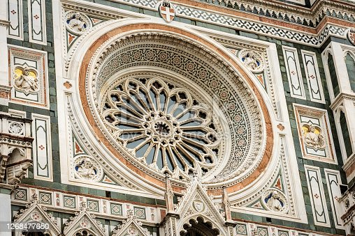 istock Facade of the Duomo of Santa Maria del Fiore - Florence Cathedral 1268477650