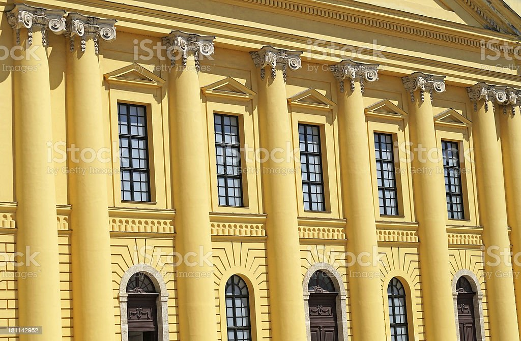 facade of the Great Church royalty-free stock photo